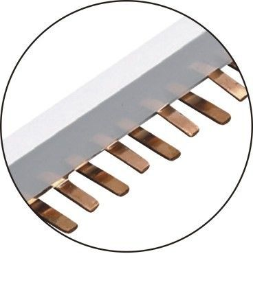 63A Copper Bus Bar Electrical Bus Bar Connections Standard Segmented Connecting