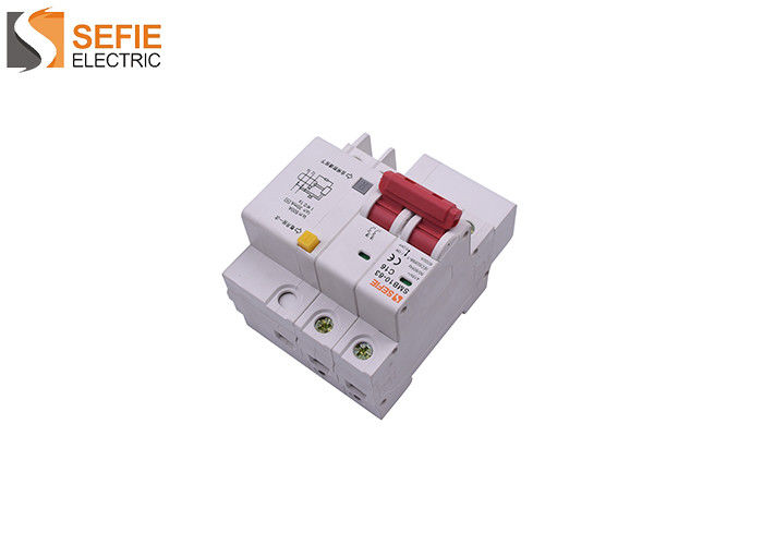 Electric Triple Pole Rcbo 30ma Type C Mcb Tripping Curve CCC Certification